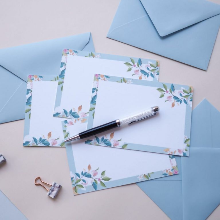 """Boxed Stationery Set """"Summer Florals"""""""